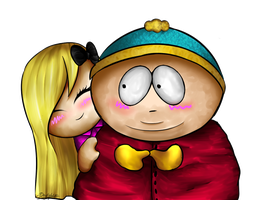 .: AT- Liza and Cartman:. by xDeleteDaylight
