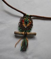 Macrame Owl Pendant by QueenLilSis