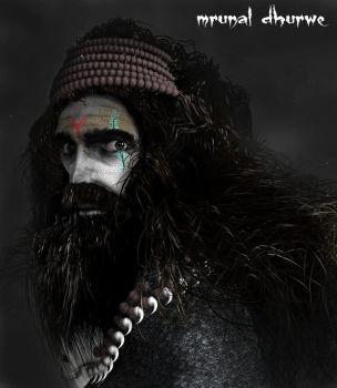 Indian aghori sadhu 3d model concept by madaramonu