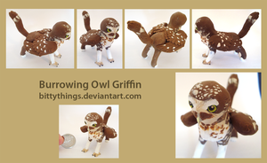 Burrowing Owl Griffin - SOLD by Bittythings