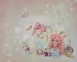 nicki minaj blend 29 wallpaper by nikito0o