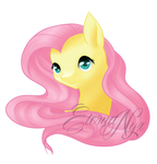 Fluttershy bust by ErinKarsath