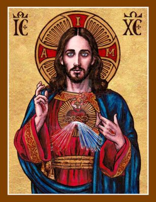 Sacred Heart of Jesus icon by Theophilia