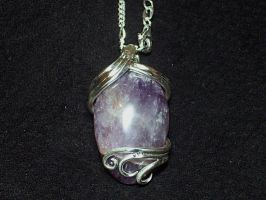 Amethyst pendant commission by Dragonsmithy