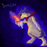 Smoke the Typhlosion by Silver-Atlas