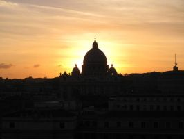 Sunset of Rome by XThrill
