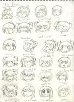 Chibi Faces 1 by Lunar-Virage
