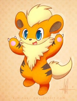 Growlithe by Kiminukii