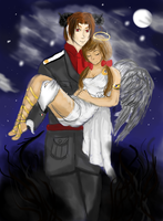 Demon and Angel. (Itachelles) by demyxsgal