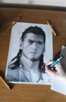Gladiolus Amicitia (unfinished) by PatrisB