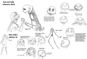 Jack and Sally reference sheet by Lily-pily
