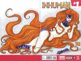 Medusa Inhuman cover commission by mdavidct