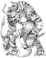 Charr Warrior : Guild Wars by JeffyP