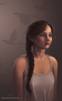 Katniss 15 by strannaya-anna
