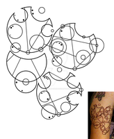 Gallifreyan Hitchhiker's Guide Tattoo by phantoms-siren