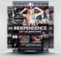 Independence Day Flyer Template by quickandeasy1