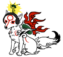 Pewdiepie as Okami by Crystalitar