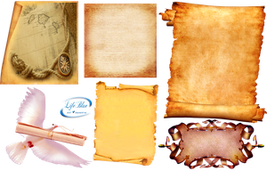 Old parchments - PNG by lifeblue