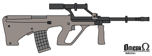 Steyr AUG by omegafactor90