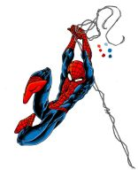 Spider-man Quick Colouring by ParisAlleyne