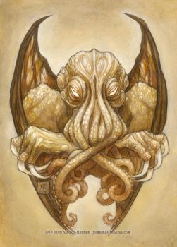 Cthulhu Dreaming in Cyclopean sepia by BohemianWeasel