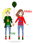 Maka And Lay As Kids by sillywownow