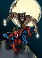 Wolverine and Spiderman by JBourlett