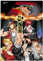 SNK and Capcom by Varges