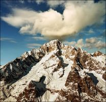 Glorious Mont Blanc peaks - View from Courmayeur by jup3nep