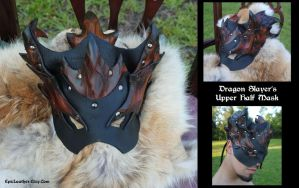 Dragon Slayers Upper Half Mask by Epic-Leather