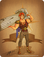 Disney steampunk: Hercules by MecaniqueFairy