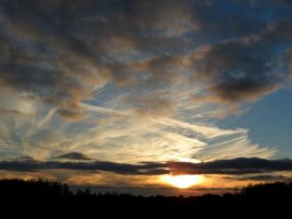 Cloudy December Sunset by Michies-Photographyy