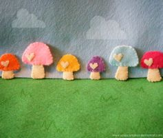 Felt Forest by hellohappycrafts