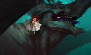 Motherland Chronicles #11 - screaming dragon girl by tobiee