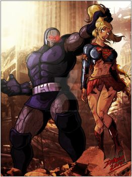 The power of Darkseid! by TheInsaneDarkOne