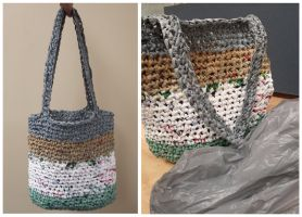 Upcycled Crocheted Plastic Bag by PiixXxiiE