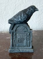 Halloween crow on tombstone by Gothicmamas-stock