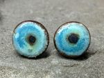 Mesmerizing Turquoise Stud Earrings by NatureSculptures