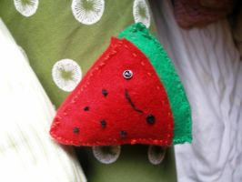 Plushie Watermelon. by A-L-i-E-Nxx