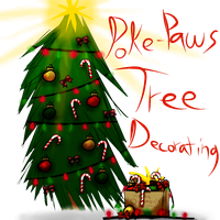 .:: Poke-Paws Tree Decorating ::. by Jazznote