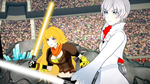 RWBY Star Wars - Yang and Weiss with Lightsabers by RaidenRaider