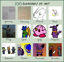 2010 Summary of Art meme by MetaKnight2716