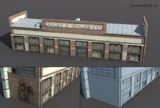 Warehouse Low poly 3d model by Cerebrate