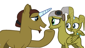 Hera, Kanan, And Dawn Pony Style by waterbender412