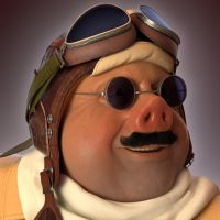 Porco Rosso Head by monkibase