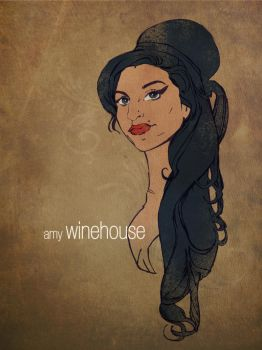 Amy Winehouse illustration by LEBsculpteure