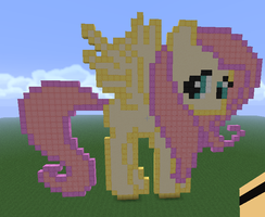 Minecraft Fluttershy by ColbieWhite