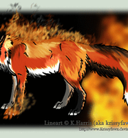Flame Fox Auction ANIMATED by Swaps-Adopts