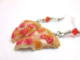 Pizza Earrings by CandyChick