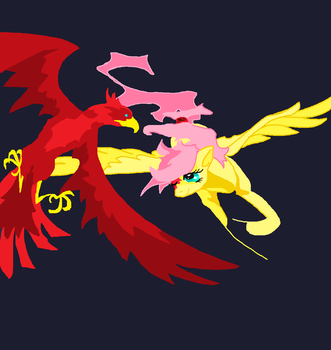 Flutter Flight, years old and unfinished pixel pic by FoldawayWings